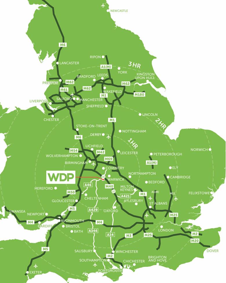 Wellesbourne Distribution Park UK Map
